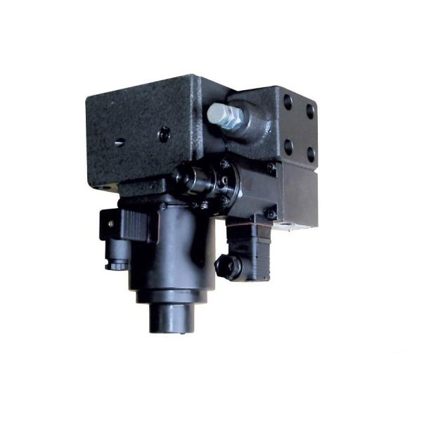 "Bucher Hydraulic 1/2"" 45 l/min five bank double acting lever valve 3 position sp"