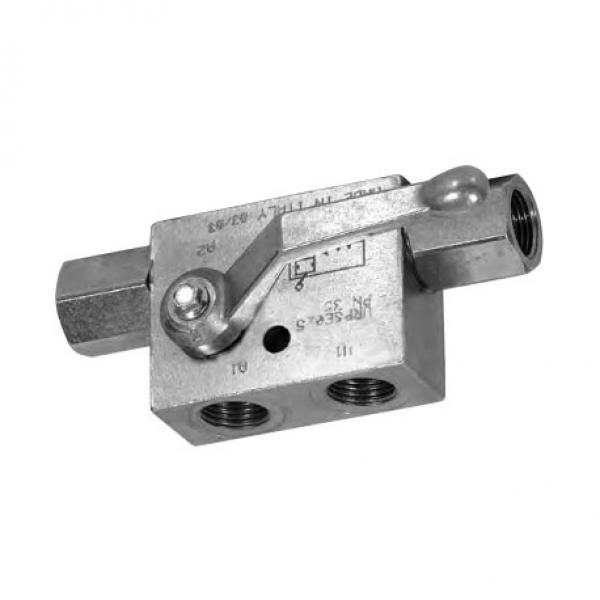 """Bucher Hydraulic 3/8"""" 45 l/min six bank double acting lever valve 3 position spr"""